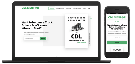 CDL Mentor - Web Design Greenock - Screenshots