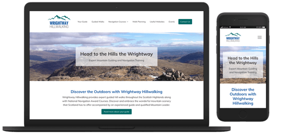 Web Design Glasgow - Wrightway Hillwalking Client website