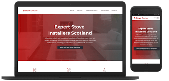 Stove Doctor - Web Design Glasgow