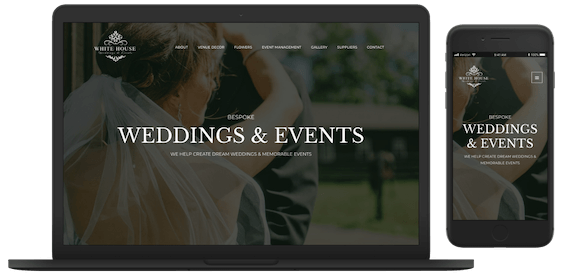 White House Weddings & Events Web and logo design
